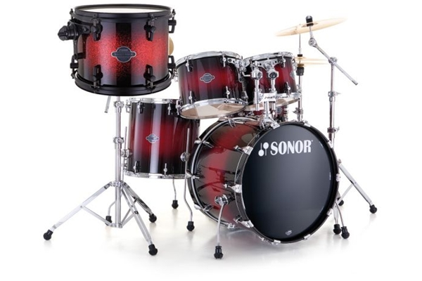 Sonor - SEF 11 Stage 3 - Red Sparkle Burst