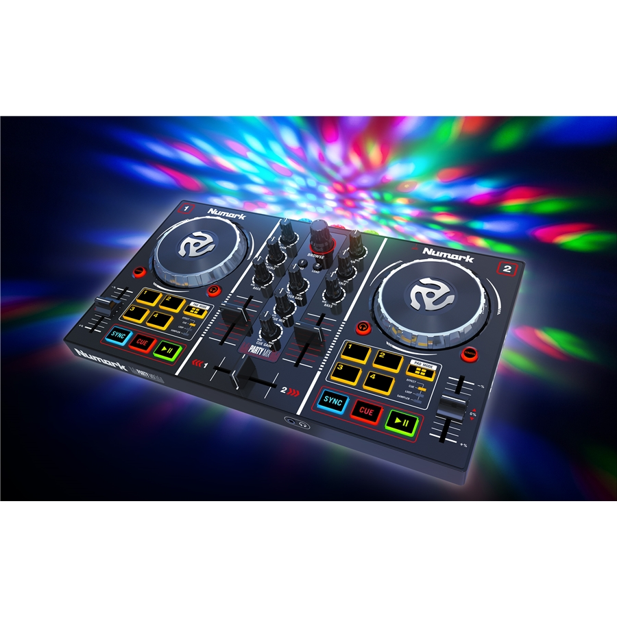 Numark Party Mix DJ - Controller entry level con effetti luce integrati