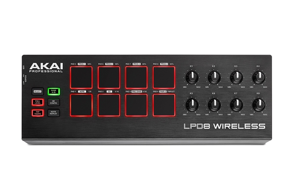 Akai Professional - LPD8 WIRELESS: MIDI CONTROLLER A PAD BLUETOOTH E USB