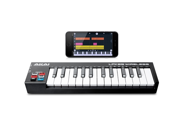 Akai Professional - LPK25 WIRELESS: MINI TASTIERA MIDI A 2 OTTAVE BLUETOOTH E USB