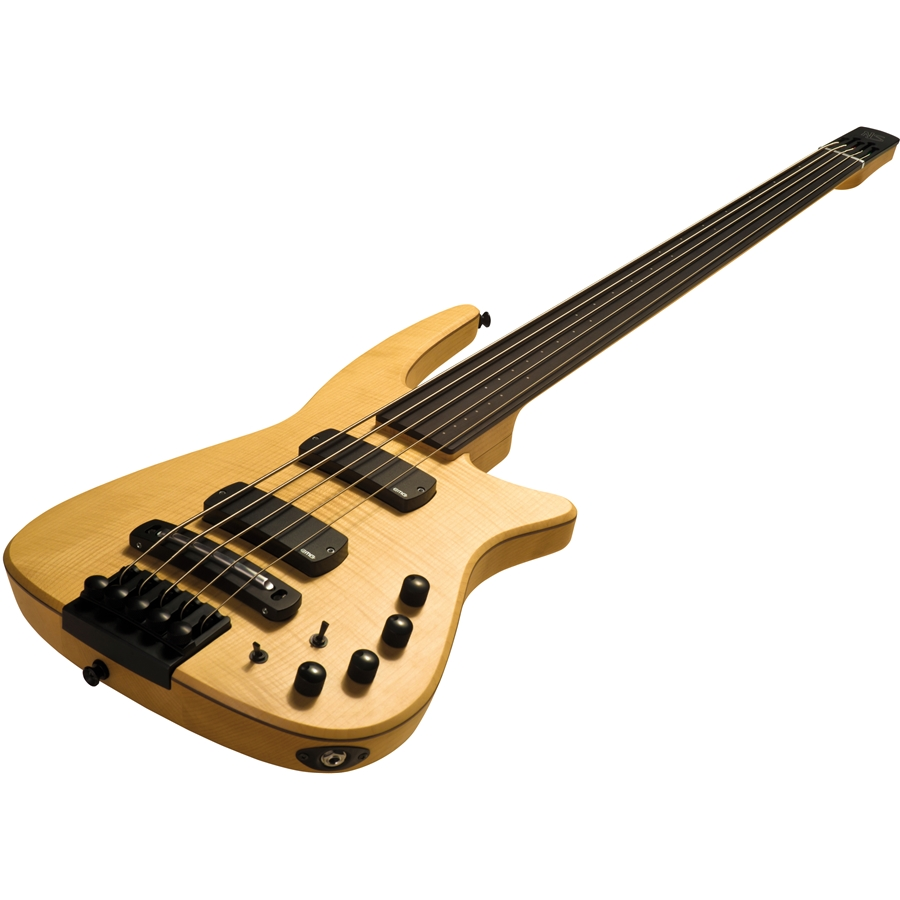 CR5 Radius Basso 5 corde Fretless, Natural Satin