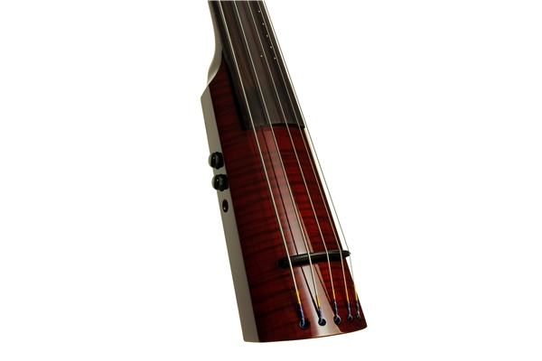 NS Design - WAV Electric Upright Bass 5 Transparent Red