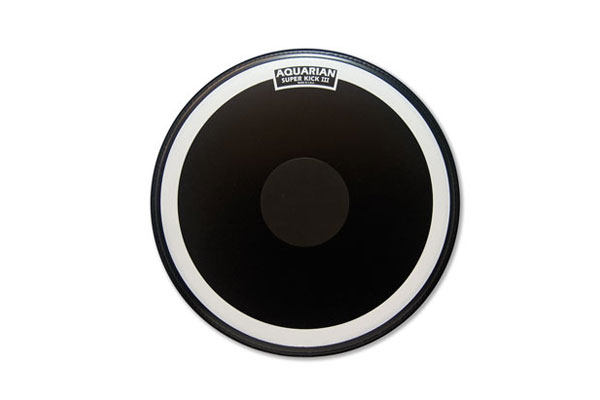 Aquarian - SKIII24BK Single Ply w/Power Dot - 24'' Black