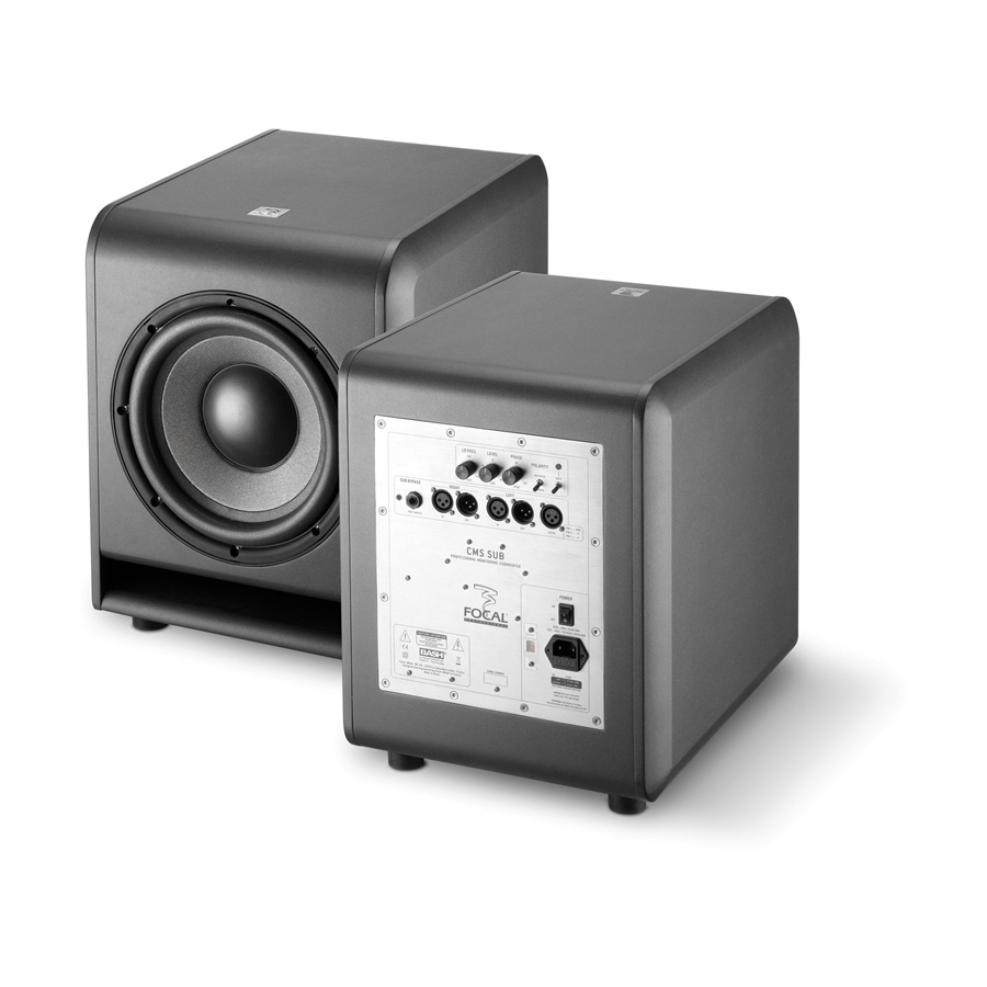 CMS SUB ANALOG AND ACTIVE SUBWOOFER