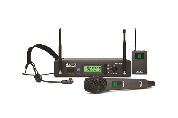 Alto Professional - RADIUS 100H microfono headset wireless Switching Diversity