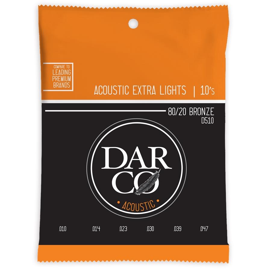 Corde per chitarra acustica Darco Extra Lights 010 D510