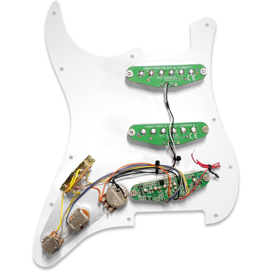 Fluence Loaded Pickguard Stratocaster 3 Single Width White