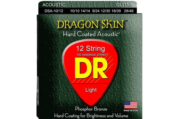 DR Strings - K3 Dragon Skin Acoustic DSA-10/12