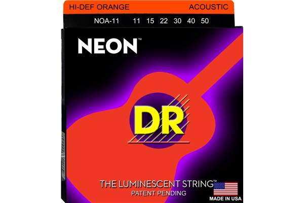 DR Strings - K3 Neon Hi-Def Orange Acoustic NOA-11