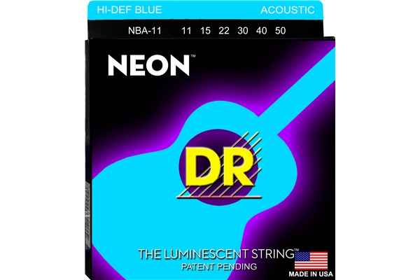 DR Strings - K3 Neon Hi-Def Blue Acoustic NBA-11
