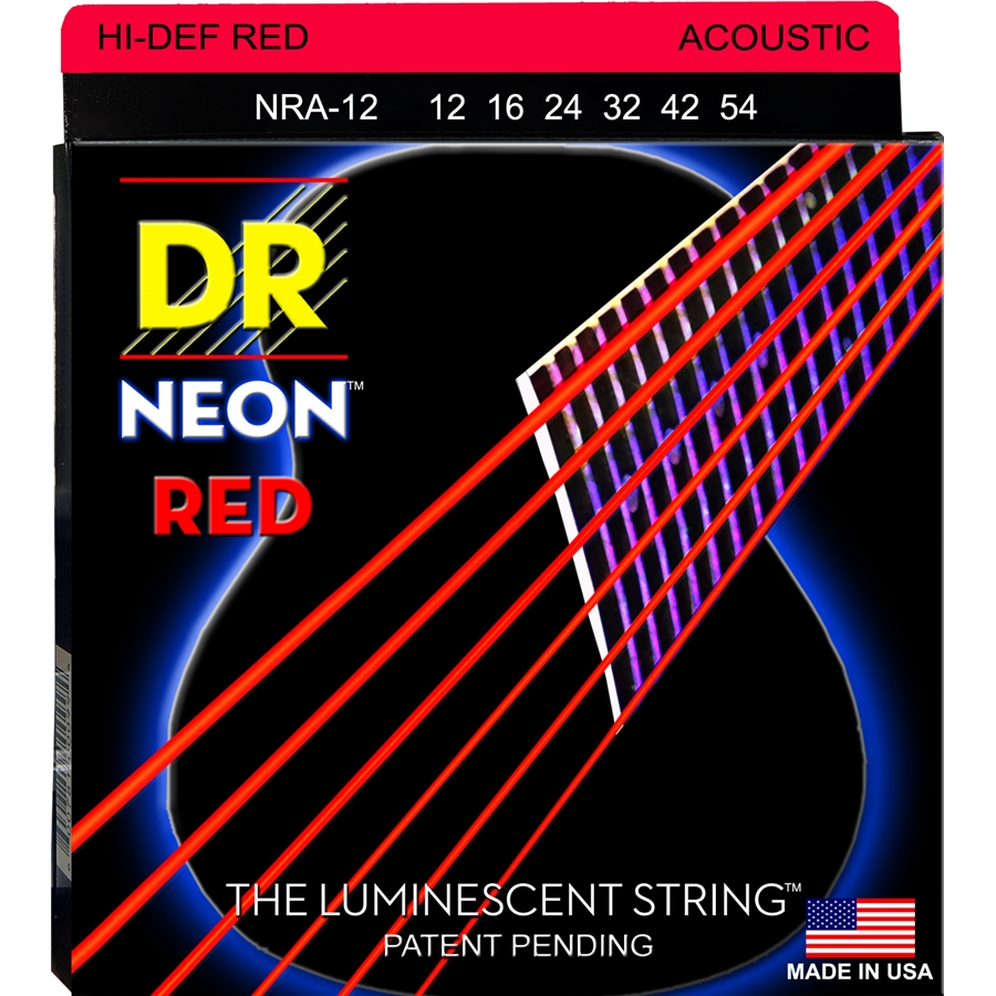 K3 Neon Hi-Def Red Acoustic NRA-12