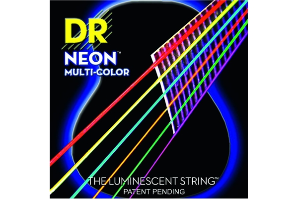 DR Strings - K3 Neon Hi-Def Multi-Color Acoustic MCA-10