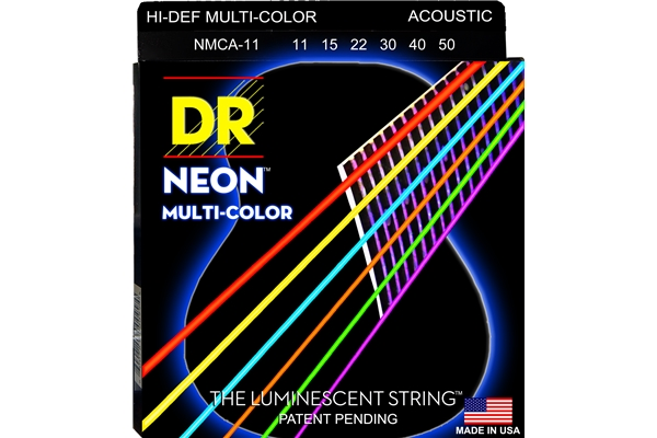 DR Strings - K3 Neon Hi-Def Multi-Color Acoustic MCA-11