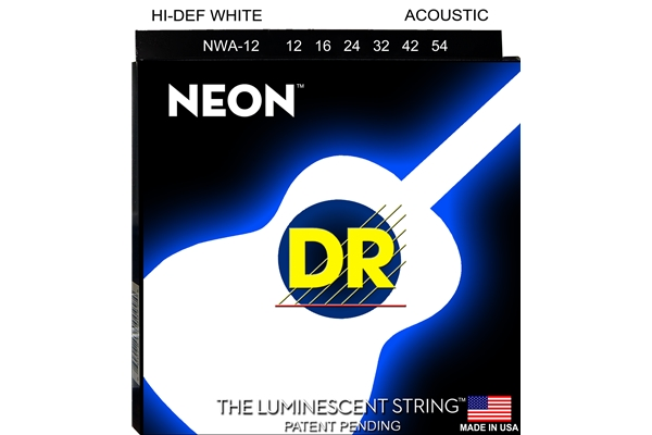 DR Strings - K3 Neon Hi-Def White Acoustic NWA-12