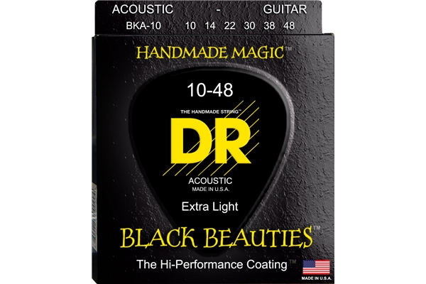 DR Strings - K3 Black Beauties Acoustic BKA-10