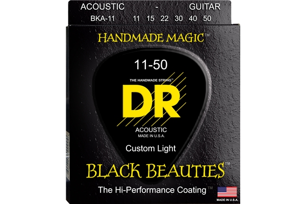 DR Strings - K3 Black Beauties Acoustic BKA-11