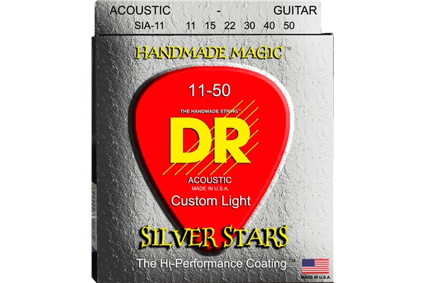 DR Strings - K3 Silver Stars Acoustic SIA-11