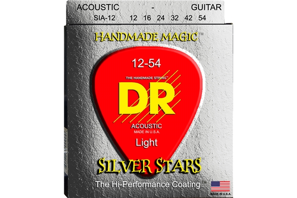 DR Strings - K3 Silver Stars Acoustic SIA-12