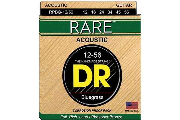 DR Strings - Rare Phosphor Bronze RPBG-12/56