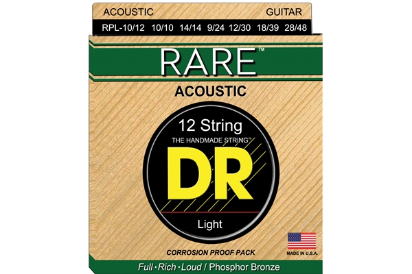 DR Strings - Rare Phosphor Bronze RPL-10/12