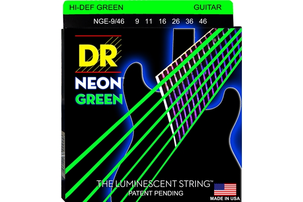 DR Strings - K3 Neon Hi-Def Green Electric NGE-9/46