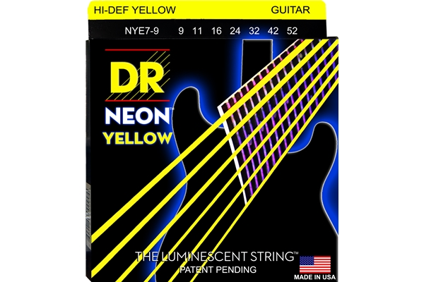 DR Strings - K3 Neon Hi-Def Yellow Electric NYE7-9