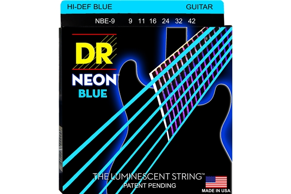 DR Strings - K3 Neon Hi-Def Blue Electric NBE-9