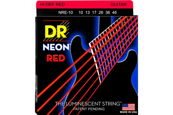 DR Strings - K3 Neon Hi-Def Red Electric NRE-10