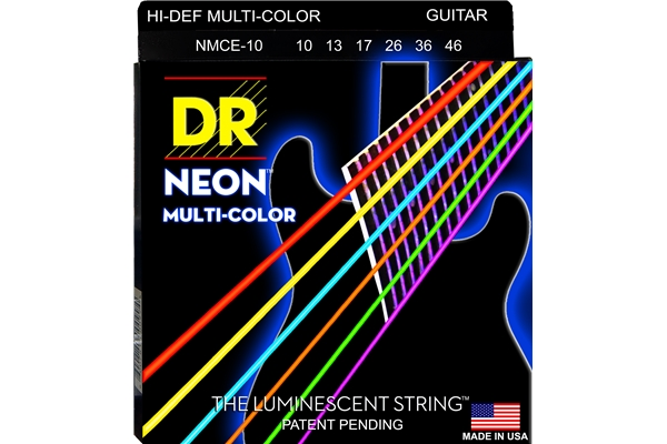 DR Strings - K3 Neon Hi-Def Multi-Color Electric MCE-10