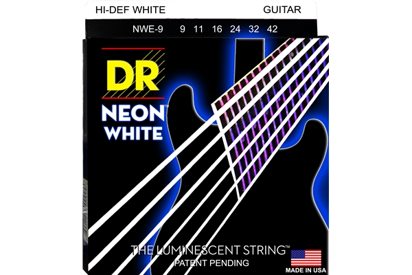 DR Strings - K3 Neon Hi-Def White Electric NWE-9