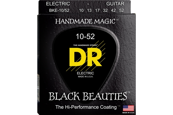 DR Strings - K3 Black Beauties Electric BKE-10/52