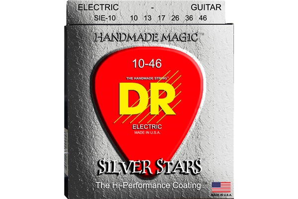 DR Strings - K3 Silver Stars Electric SIE-10