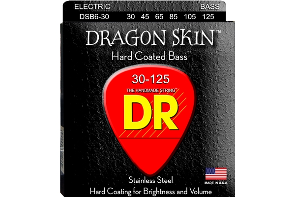 DR Strings - K3 Dragon Skin Bass DSB6-30