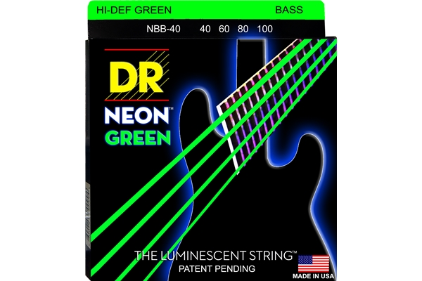 DR Strings - K3 Neon Hi-Def Green Bass NGB-40