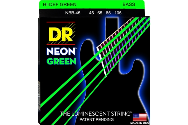 DR Strings - K3 Neon Hi-Def Green Bass NGB-45