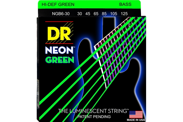 DR Strings - K3 Neon Hi-Def Green Bass NGB6-30
