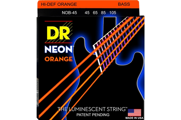 DR Strings - K3 Neon Hi-Def Orange Bass NOB-45