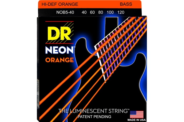 DR Strings - K3 Neon Hi-Def Orange Bass NOB5-40