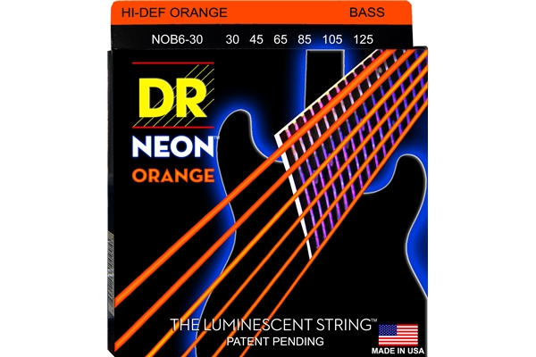DR Strings - K3 Neon Hi-Def Orange Bass NOB6-30