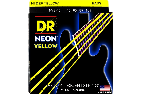 DR Strings - K3 Neon Hi-Def Yellow Bass NYB-45