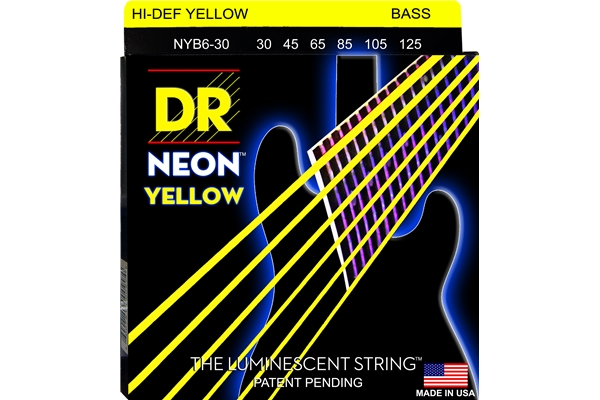 DR Strings - K3 Neon Hi-Def Yellow Bass NYB6-30