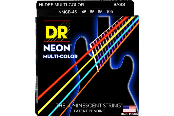 DR Strings - K3 Neon Hi-Def Multi-Color Bass MCB-45