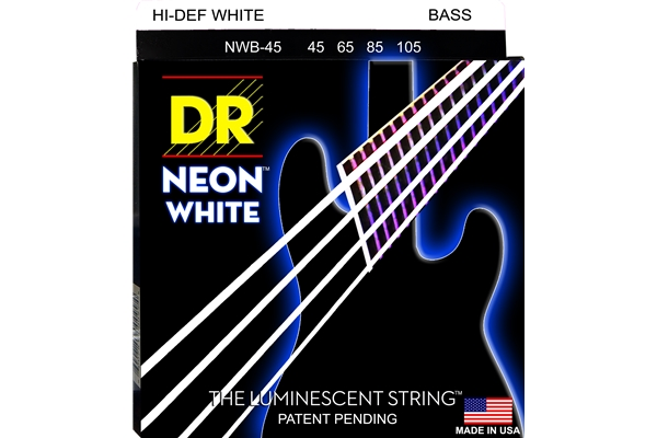 DR Strings - K3 Neon Hi-Def White Bass NWB-45