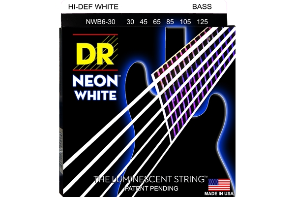 DR Strings - K3 Neon Hi-Def White Bass NWB6-30