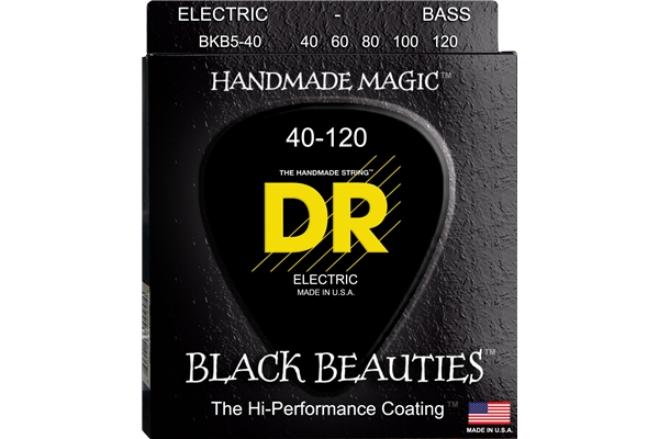 DR Strings - K3 Black Beauties Bass BKB5-40