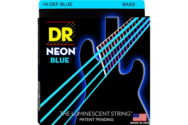 DR Strings - K3 Neon Hi-Def Blue Bass NBB-45