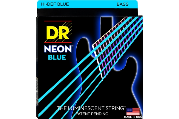 DR Strings - K3 Neon Hi-Def Blue Bass NBB5-45