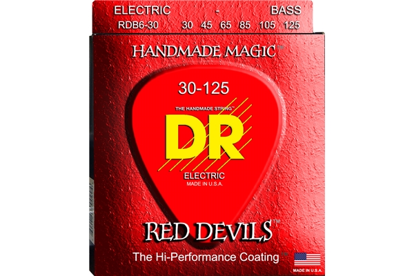DR Strings - K3 Red Devils Bass RDB6-30