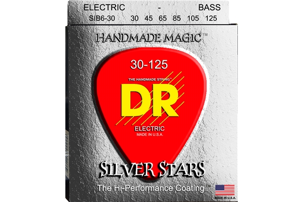 DR Strings - K3 Silver Stars Bass SIB6-30