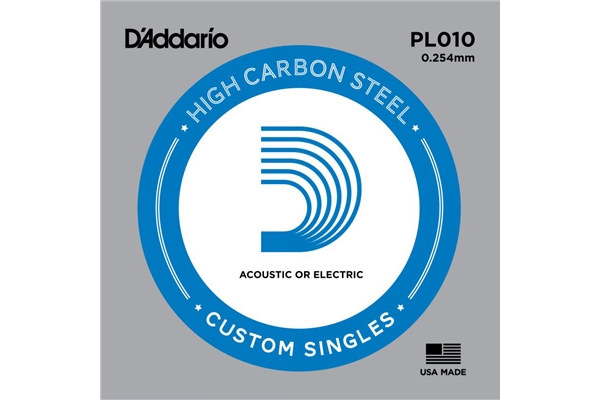 DR Strings - Plain Electric Guitar Single PL010